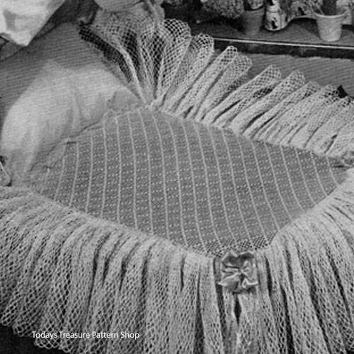 Frilly Crocheted Bassinet Skirt Pattern