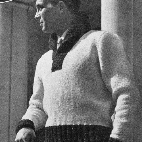 Knitted Mans Shaker Pullover Pattern