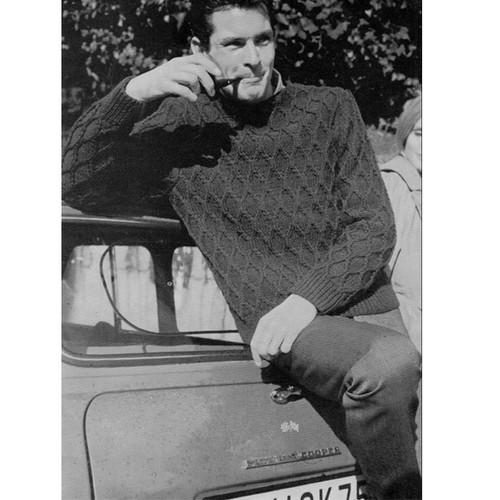 Vintage Honeycomb Pullover Knitting pattern for Men
