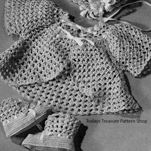 Crocheted Mesh Baby Jacket Pattern