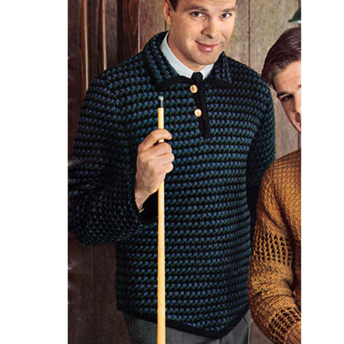 Mans Long Sleeved Knitted Shirt Pattern