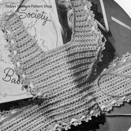 Heirloom Baby Bib Crochet Pattern