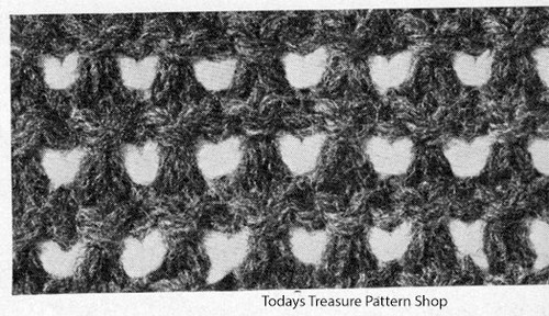 Knit Checked Pattern Stitch