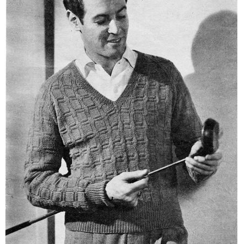 Vintage Raglan Pullover Knitting Pattern