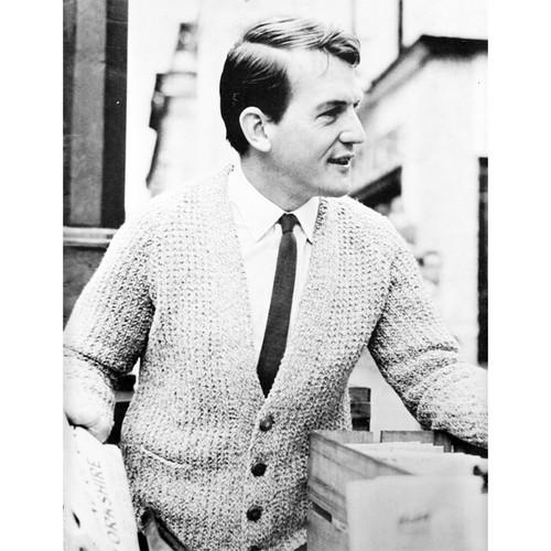 Mans Vintage Classic Cardigan Knitting Pattern