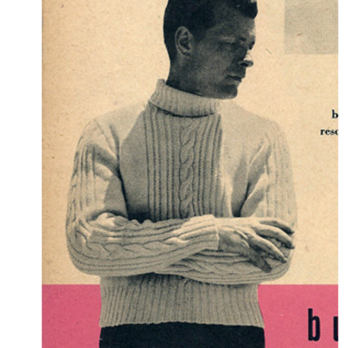 Vintage Turtleneck Knitting Pattern in Cable Stitch