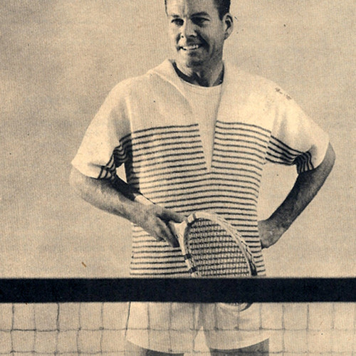 Vintage Knitted Striped Tennis Shirt Pattern