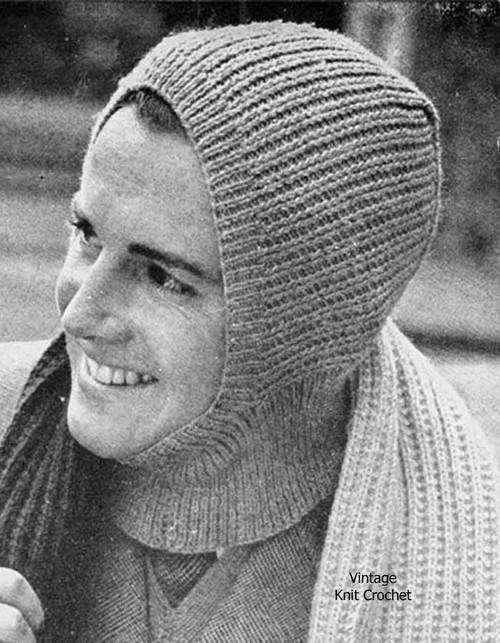 Easy mans knitted helmet pattern, scarf in knitting worsted