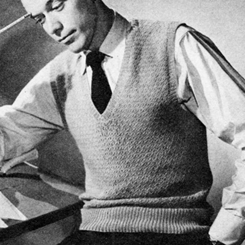 Mans 1950s Knitted Pullover Vest Pattern