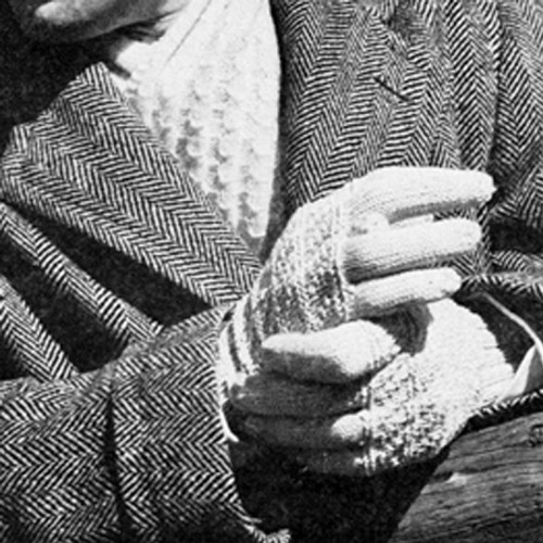 Vintage String Gloves and Scarf, Free knitting pattern