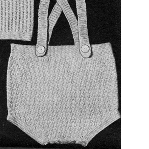 Vintage Baby Creepers Crochet Pattern