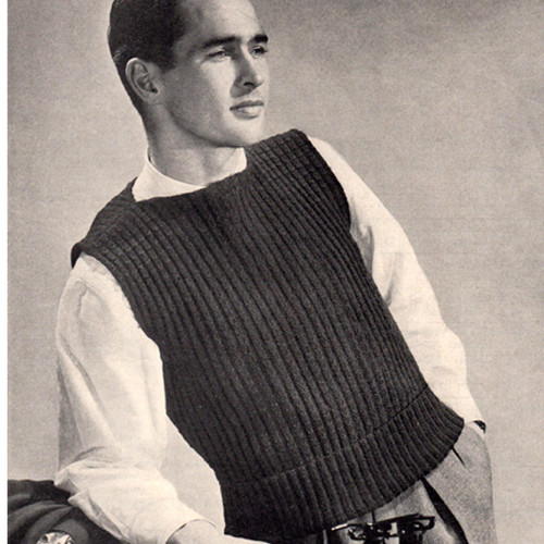 Sleeveless Knit Pullover Knitting Pattern with Boat Neck