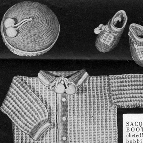 Baby Boy Crocheted Layette Pattern