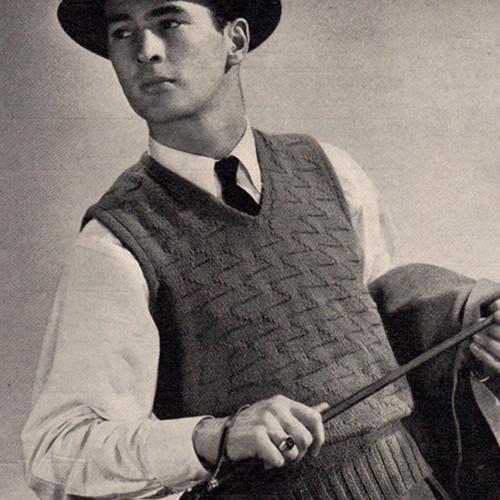 Junior Partner Knitted Sleeveless Pullover Pattern