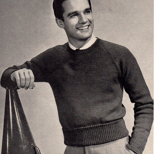 Mans Vintage Pullover Pattern with Raglan Sleeves