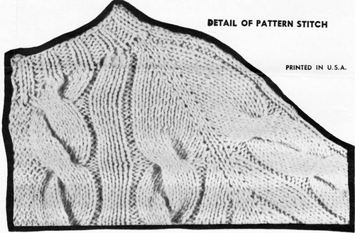 Cable Cardigan Knitted Illustration