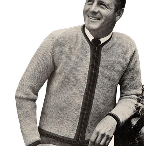 Mans Zipper Jacket Knitting Pattern