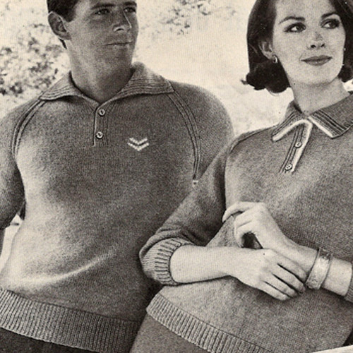 Matching Knit Pullovers Pattern