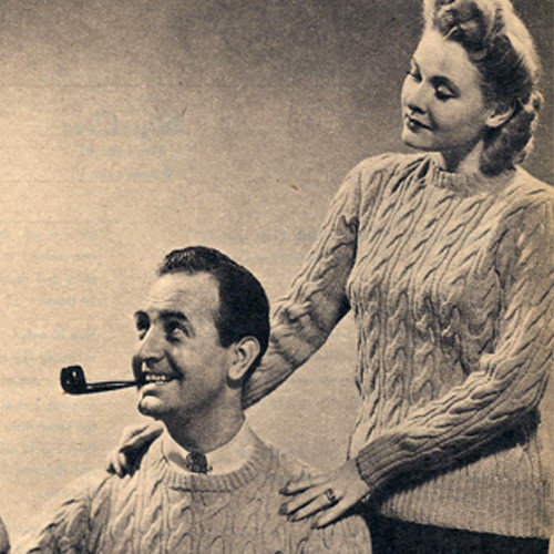 His & Hers Cable Sweaters Knitting Pattern
