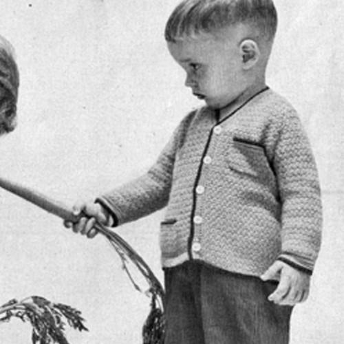 Boys Crocheted Jacket Pattern