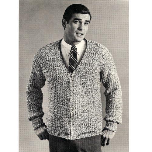 Mans Zippered Knit Jacket Pattern