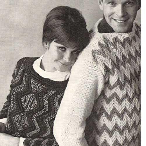 Vintage Ripple Pullovers Knitting Pattern