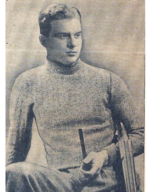 Mans Vintage 1920s Pullover Knitting Pattern