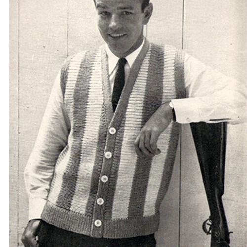 Knitting Pattern for Long Striped Vest