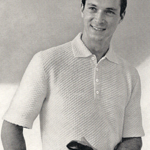 Short Sleeve Knitted Polo Shirt Pattern