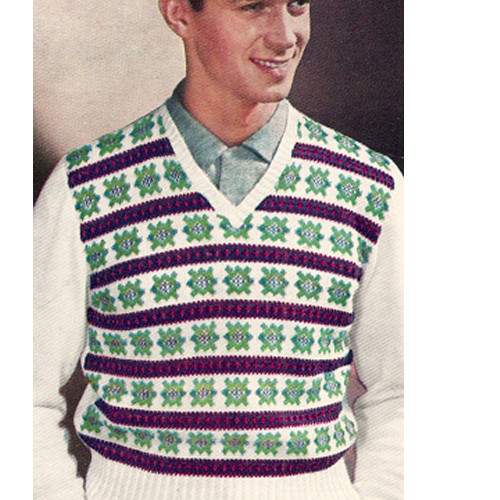 Colorful Mans Striped Vest Pattern