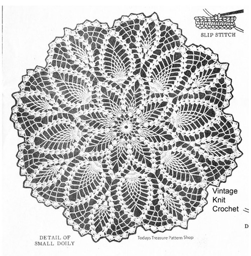 Large Pineapple Doily Illustration, Alice Brooks 7044