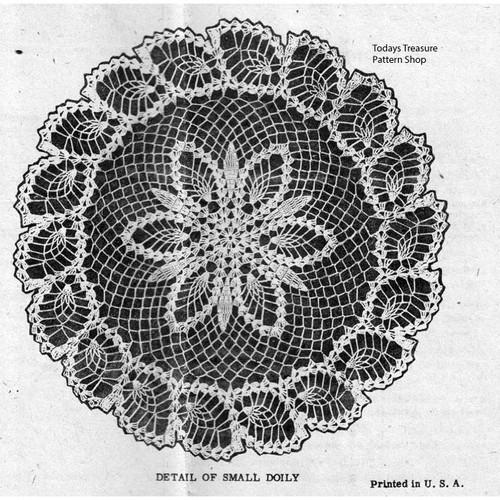 Illustration of pineapple Doily Border