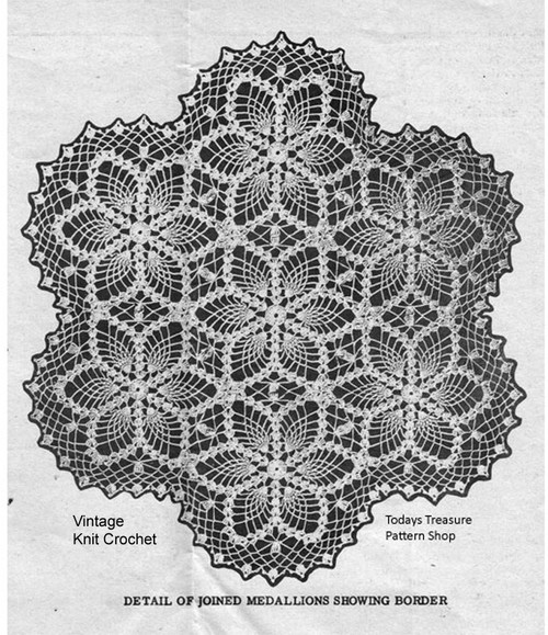 Crochet Pineapple Centerpiece Pattern, Mail Order 683