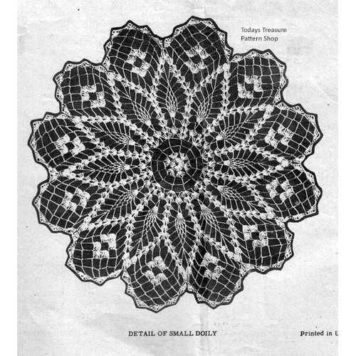 Illustration of Pineapple Crochet Doily