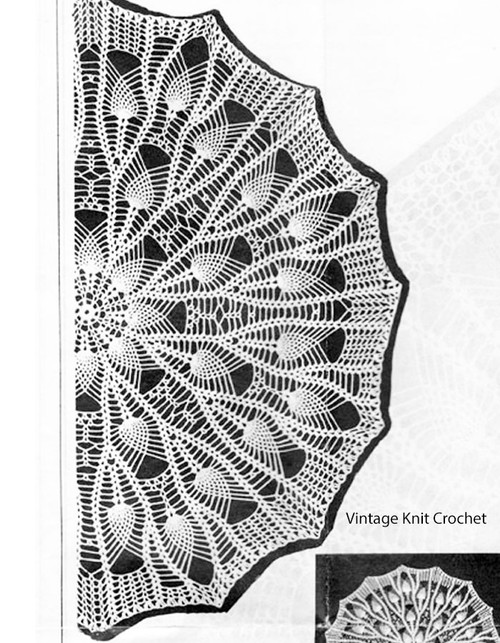 Sunflower crochet doily pattern, Mail Order 2757