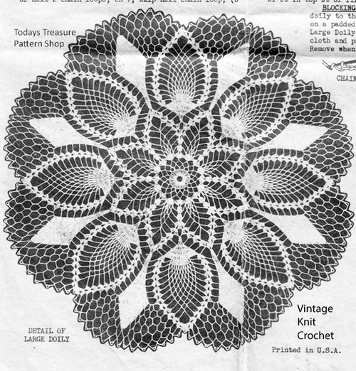 Vintage Mail order pineapple doily illustration for Design 2608