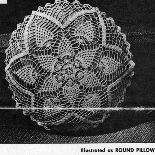 Crocheted Pineapple Pillow Pattern