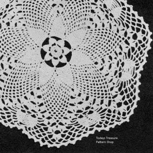 Vintage Pineapple Flower Crochet Doily Pattern
