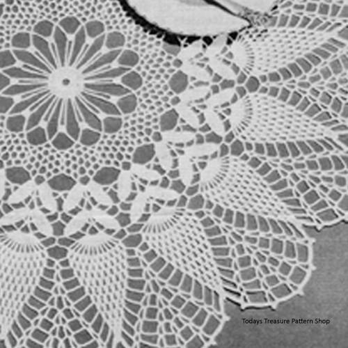 Lily Mills Pineapple Centerpiece Doily Crochet Pattern