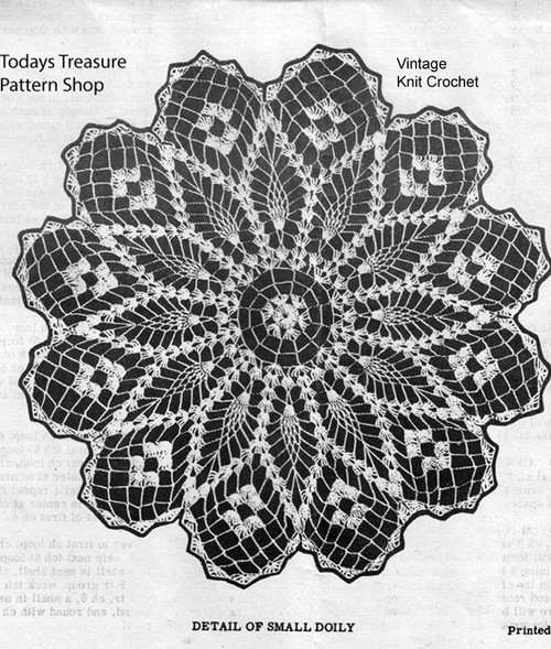 Small Pineapple Petal Doily Pattern Illustration