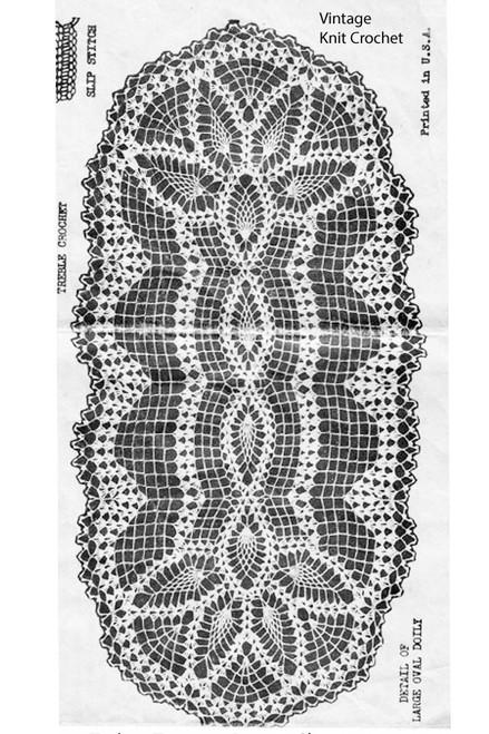 Crocheted Pineapple Scarf Pattern, Design 2243