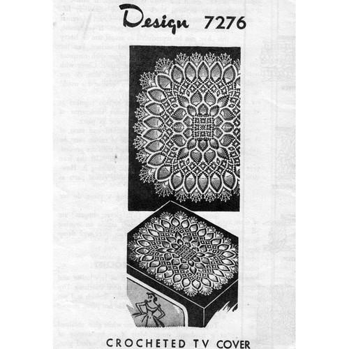 Design 7276 Square Centerpiece Crochet Doily Pattern
