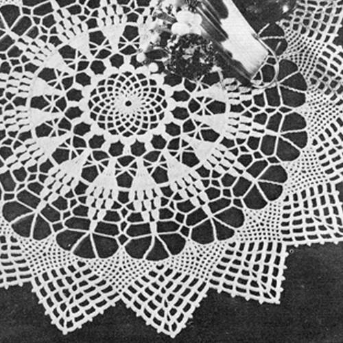 Vintage Pineapple Doily Crochet Pattern in wheel motif