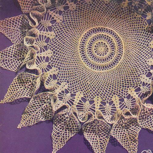 Fluted Pineapple Doily Crochet Pattern