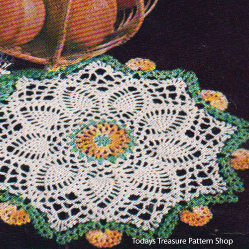 Vintage Marigold Doily Crochet Pattern from American Thread