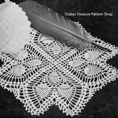 Pineapple Quill Crocheted Doily Pattern