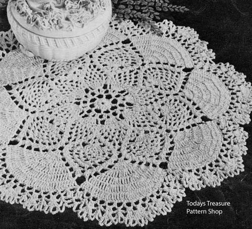 American Thread Dove Doily Crochet Pattern