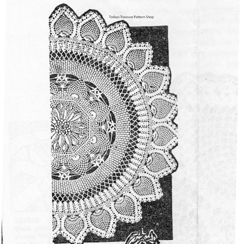 Pineapple Flower Doily Pattern from Anne Cabots - 5968