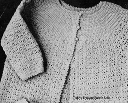 Vintage Crocheted Baby Jacket Pattern