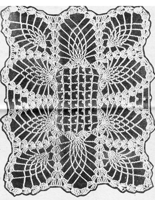 Pineapple Scarf Pattern Detail, Laura wheeler 634